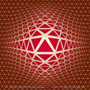 Special style E-OP ART with a triangle based grid, mixing elements of the Vega style and the Hexagon style.