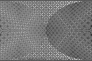 Special style E-OP ART with a bend pattern, forming 2 half ellipses